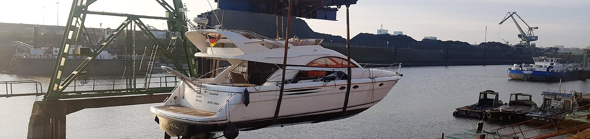 Yachtservice Meidericher Schiffswerft MSW Duisburg - Kranservice